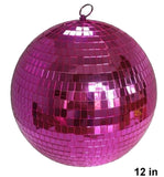 12 INCH HOT PINK COLOR MIRROR REFLECTION DISCO BALL (Sold by the piece)