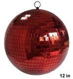 12 INCH RED COLOR MIRROR REFLECTION DISCO BALL (Sold by the piece)