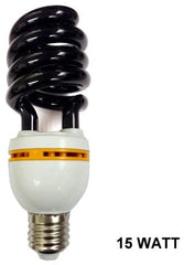 TWIST SPIRAL 15 WATT ENERGY SAVER BLACK LIGHT BULB ( sold by the piece )