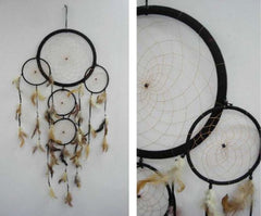 HUGE BLACK COLOR 36 INCH DREAMCATCHER ( sold by the piece )