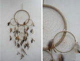 HUGE TAN COLOR 36 INCH DREAMCATCHER ( sold by the piece )