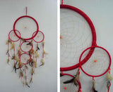 HUGE RED 36 INCH DREAMCATCHER ( sold by the piece )