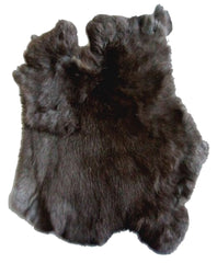 BLACK NATURAL RABBIT SKIN PELT (Sold by the piece of dozen )