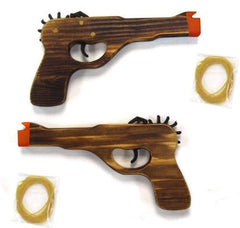 ANTIQUE LOOKING WOOD ELASTIC SHOOTER GUN (Sold by the piece or dozen)