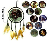 8 INCH DIAMETER WAR SHIELDS DREAMCATCHER (Sold by the dozen)