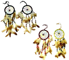 RAINBOW 12 INCH ASSORTED COLOR DREAM CATCHERS (Sold by the piece or dozen)