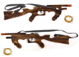 21 INCH WOODEN MACHINE GUN ELASTIC SHOOTER GUN (Sold by the piece or dozen)