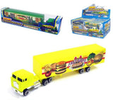 DIECAST METAL DESIEL 18 wheeler TRUCK WITH TRAILER (Sold by the dozen)