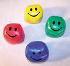 FOOT SACK BALLS WITH SMILEY FACE ( sold by the dozen ) -*CLOSEOUT NOW ONLY 25 CENTS EACH