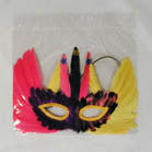 FEATHER PARTY MASK MARDI GRAS MASQUERADE  (Sold by the PIECE OR dozen) * CLOSEOUT * NOW .50 CENTS EA BY THE DOZEN