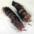JUMBO RACOON TAIL KEY CHAINS (Sold by the dozen)