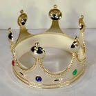 KING CROWN WITH JEWELS (Sold by the dozen)
