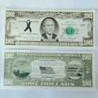 2002 DOLLAR BILL (Sold by the pad of 25 bills) NOW ONLY 50 CENTS PER PAD OF 25 PC
