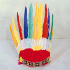 INDIAN CHIEF FEATHER HEAD BAND HEADDRESS  (Sold by the pieces or dozen)