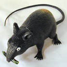 LARGE RUBBER RAT (Sold by the piece or dozen) *- CLOSEOUT AS LOW AS $ 1 EACH