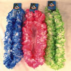 LARGE FLUFFLY FLOWER HAWAIIAN LEI'S (Sold by the dozen) -* CLOSEOUT NOW ONLY 75 CENT EA