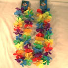 MULTI SOLID COLOR FLOWER HAWAIIAN LEI'S (Sold by the dozen) -* CLOSEOUT NOW ONLY 50 CENTS EA