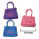 PRINCESS EMBROIDERED PLUSH PURSE (Sold by the piece or dozen) *- CLOSEOUT NOW 75 CENTS EA