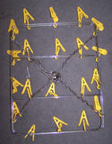 METAL HANGING DISPLAY RACK WITH 20 PLASTIC CLIPS ( sold by the piece)