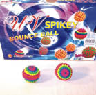 UV SPIKEY HI BOUNCE BALLS (Sold by the dozen) CLOSEOUT $ 1 EACH