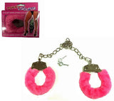 PINK FUR LINED LEG CUFFS  (sold by the piece )