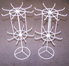 WHITE 16 INCH SPINNING DISPLAY RACK (Sold by the piece) *- CLOSEOUT NOW $7.50 EACH