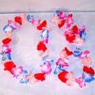 COMPLETE HAWAIIAN LUAU FLOWER SET (Sold by the piece or dozen sets) CLOSEOUT NOW ONLY 50 CENTS PER SET