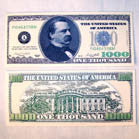 ONE THOUSAND DOLLAR BILL (Sold by the dozen)