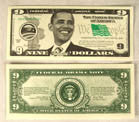 OBAMA NINE DOLLAR BILLS (Sold by the pad)