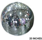 20 INCH SILVER MIRROR REFLECTION BALL (Sold by the piece)