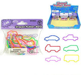 CAR AND TRUCK SILLY RUBBER BANDS (Sold by the dozen)