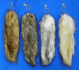 NATURAL FOX TAIL KEY CHAINS (Sold by the piece or dozen) *- CLOSEOUT NOW $ 2 EA