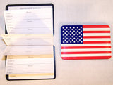 AMERICAN FLAG MAGNETIC ADDRESS PHONE BOOK (Sold by the dozen) *- CLOSEOUT NOW ONLY 25 CENTS EA