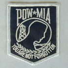 POW MIA  NOT FORGETTEN 3 INCH PATCH (Sold by the piece or dozen ) CLOSEOUT AS LOW AS 75 CENTS EA
