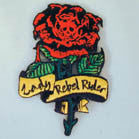 LADY REBEL RIDER PATCH (Sold by the piece)