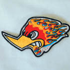 WOOD PECKER FLAMES PATCH (Sold by the piece)