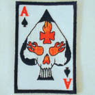 ACE SKULL 4 INCH PATCH (Sold by the Dozen OR piece) * CLOSEOUT AS LOW AS 75 CENTS EA