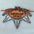 AMERICAN SPIRIT 4 INCH PATCH (Sold by the piece or dozen ) -* CLOSEOUT AS LOW AS .75 CENTS EA