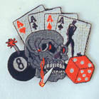 SKULL CARD PATCH (Sold by the piece)