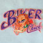 BIKER CHICK 4 INCH PATCH ( Sold by the piece or dozen ) *- CLOSEOUT AS LOW AS 75 CENTS EA