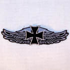 IRON CROSS WINGS 4 INCH PATCH ( Sold by the piece or dozen ) *- CLOSEOUT AS LOW AS 50 CENTS EA