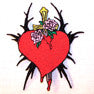 DAGGER THROUGH HEART PATCH (Sold by the piece)