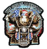 AMERICAN HAWG 4 INCH PATCH (Sold by the piece)