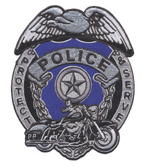 BIKER POLICE BADGE PATCH (Sold by the piece)