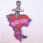 BAD GIRL DAGGER PATCH (Sold by the piece)