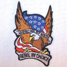 AMERICAN BY BIRTH REBEL PATCH (Sold by the piece OR dozen ) *- CLOSEOUT  75 CENTS  EACH