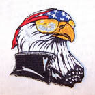 AMERICAN EAGLE 4 INCH PATCH (Sold by the piece or dozen ) -* CLOSEOUT AS LOW AS .75 CENTS EA
