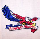 AMERICAN WARRIOR EAGLE PATCH (Sold by the piece)