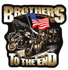 BROTHERS TO THE END PATCH (Sold by the piece)