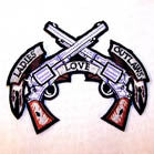 LADIES LOVE OUTLAWS 4 INCH PATCH (Sold by the piece or dozen ) -* CLOSEOUT AS LOW AS .75 CENTS EA